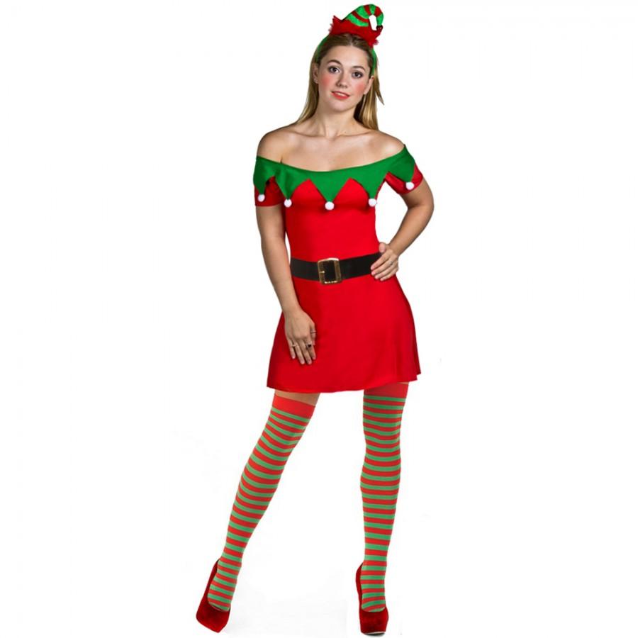 Red dress xmas elf