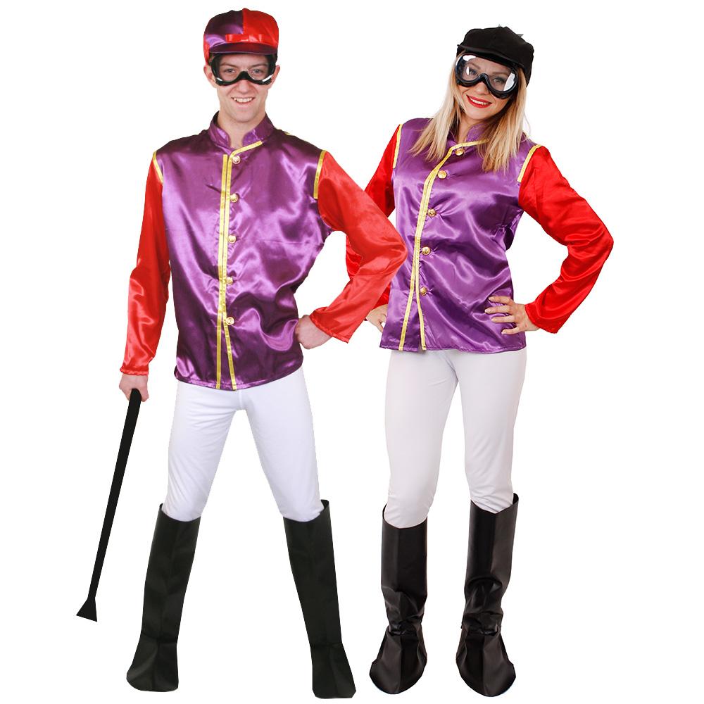 Purple and Red Jockey Costume